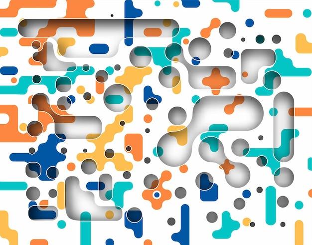 Nahtlose abstrakte musterförderung dynamische geometrische kreisformen. muster für cover-design, poster, banner, karte, gruß, geschäft, dekoration.