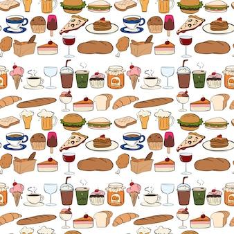 Nahtlose alle art von essen