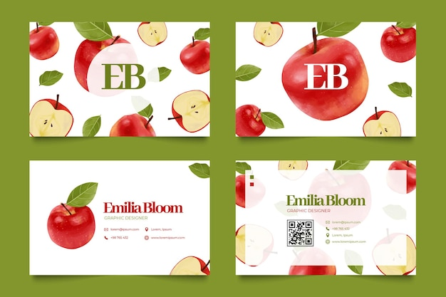 Nahtlose apple pattern name card