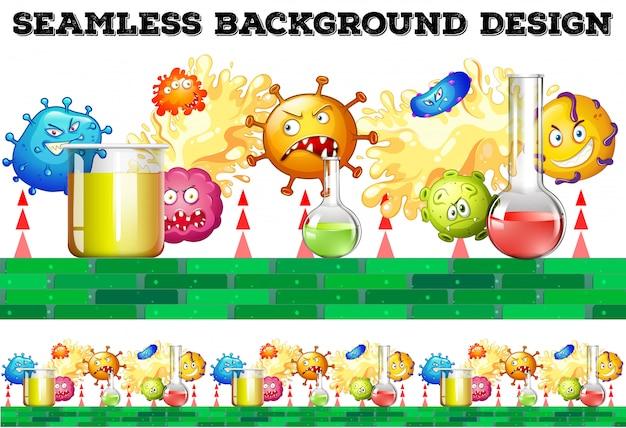 Nahtlose becher und bakterien