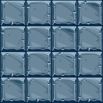 Nahtlose beschaffenheit des quadratischen blauen steins, hintergrundsteinwandfliesen. vektorillustration für die benutzeroberfläche des spielelements