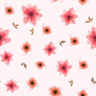Nahtlose blumenmuster schöne blumenhintergrundkleidung mode