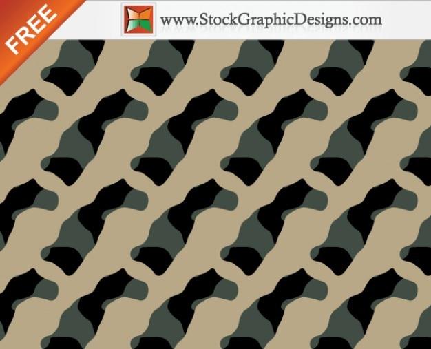 Nahtlose camouflage free vector pattern - 3 farben