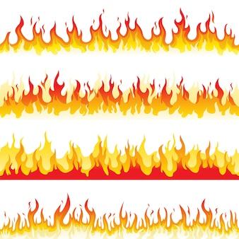 Nahtlose feuerflamme