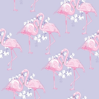 Nahtlose flamingomusterillustration