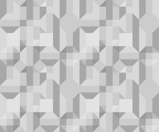 Nahtlose geometrie volumen muster vektor-illustration