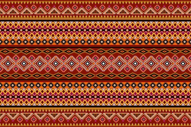 Nahtlose geometrische ethnische asiatische orientalische und traditionelle musterdesign für textur und hintergrund. seiden- und stoffmusterdekoration für teppiche, kleidung, verpackungen und tapeten