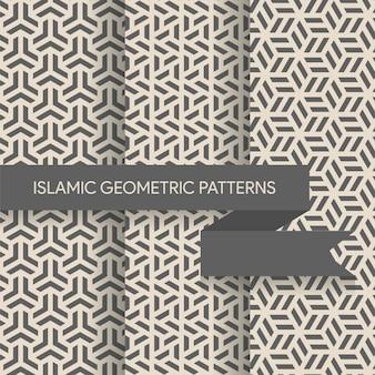 Nahtlose geometrische hintergrundmuster-sammlung