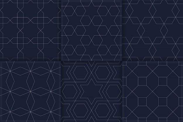 Nahtlose geometrische muster festgelegt