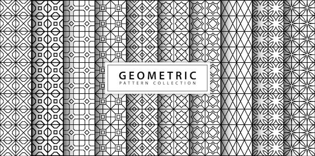 Nahtlose geometrische mustersammlung