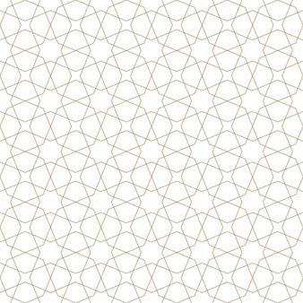 Nahtlose geometrische verzierung basierend auf traditioneller arabischer kunst. braune farblinien. tolles design für stoff, textil, abdeckung, geschenkpapier, hintergrund. feine linien.