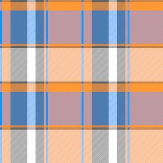 Nahtlose gewebebeschaffenheit des orange blauen modernen plaids