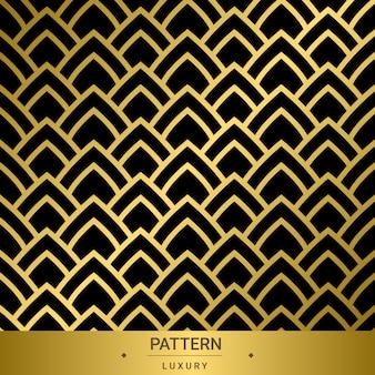 Nahtlose goldene luxusmuster auf schwarzem hintergrund