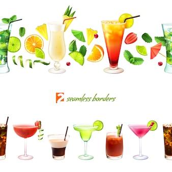 Nahtlose grenze des cocktails