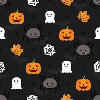 Nahtlose halloween vektor-muster