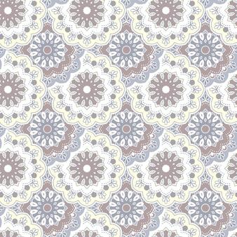 Nahtlose handgezeichnete mandala-muster vintage dekorative elemente