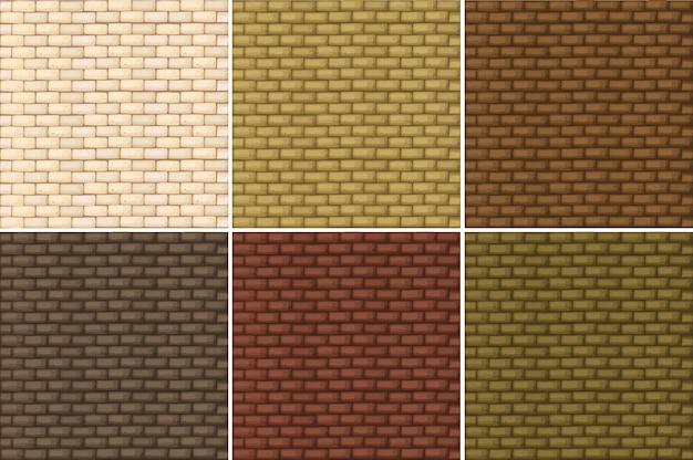 Nahtlose hintergrund mit brickwalls