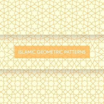 Nahtlose islamische geometrische muster-beschaffenheits-sammlung
