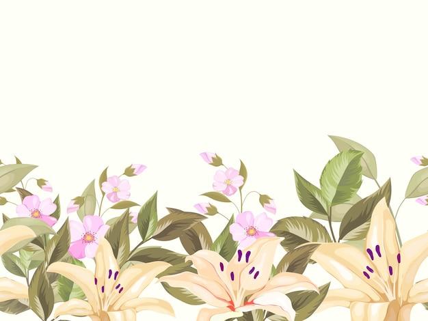 Nahtlose lilie blume backgroung vorlage