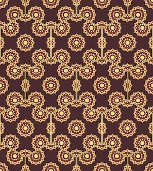 Nahtlose mandala-muster-vintage-elemente im orientalischen stil te