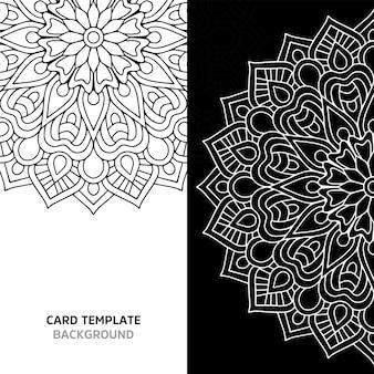 Nahtlose mandala schwarze farbe