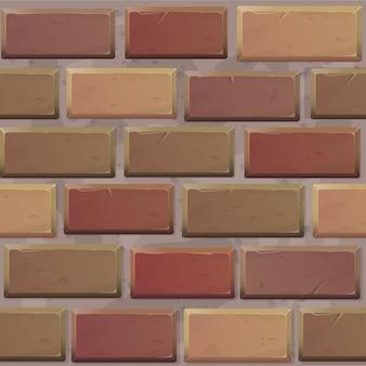Nahtlose muster backsteinmauer hintergrund für spiele