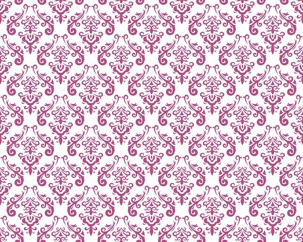 Nahtlose muster der damastweinlese, vektorillustration. horizontal und vertikal wiederholen