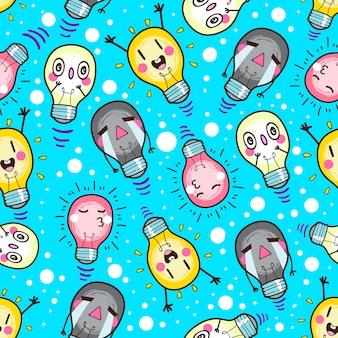 Nahtlose Muster der netten Lampe