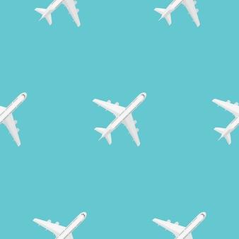 Nahtlose muster des fliegenden flugzeugs