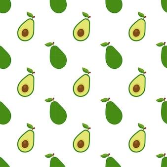 Nahtlose muster flache avocado