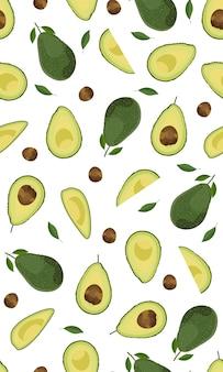 Nahtlose muster ganze d avocado