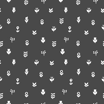 Nahtlose muster im floralen stil. vektor-illustration