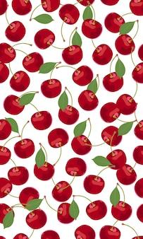 Nahtlose muster kirschfrüchte