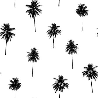 Nahtlose muster kokospalmen