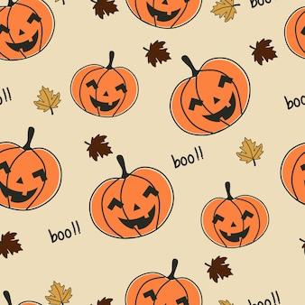 Nahtlose muster kürbis halloween