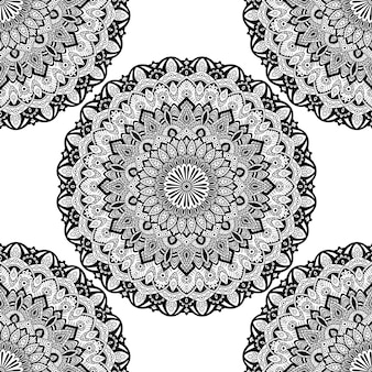 Nahtlose muster mandala ornament.