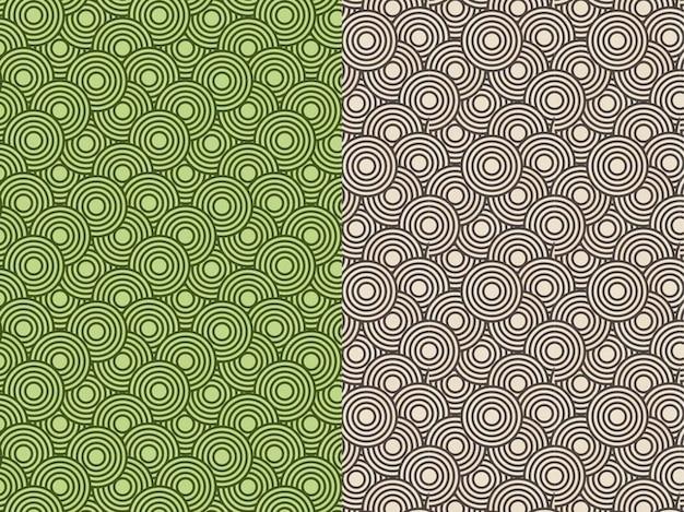 Nahtlose muster mit geometrischen formen