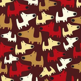 Nahtlose muster mit hunden