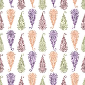 Nahtlose muster paisley ornament volksblume