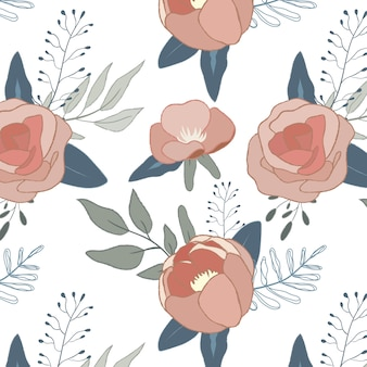 Nahtlose muster rosen