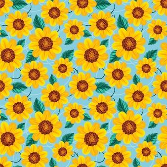 Nahtlose muster sonnenblume