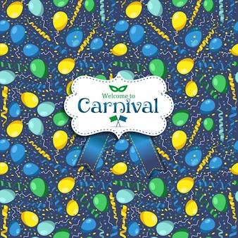 Nahtlose muster von karneval in rio
