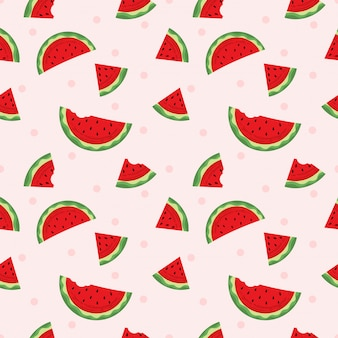 Nahtlose muster wassermelone