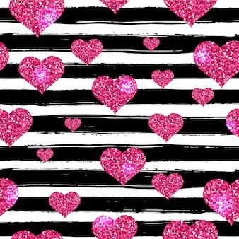 Nahtlose muster zum valentinstag