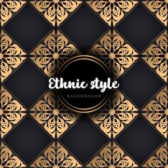 Nahtlose musterdesign luxus mandala