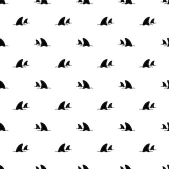 Nahtlose musterfischdelfinwalkarikatur