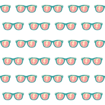 Nahtlose musterhintergrundsonnenbrille mit farbe, vintage-sonnenbrillenmuster