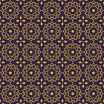 Nahtlose musterhintergrundtapete des mandalas. elegantes traditionelles motiv. luxus geometrisch. klassischer batik.