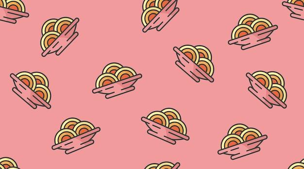 Nahtlose musterillustration des fastfoods