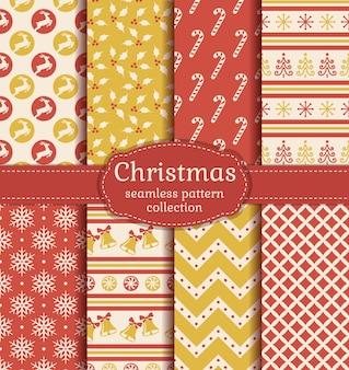 Nahtlose musterkollektion weihnachten.